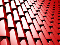 Abstract Red Cube Blocks Wall Background. 3d Render Illustration Royalty Free Stock Photos
