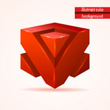 Abstract red cube vector Stock Image