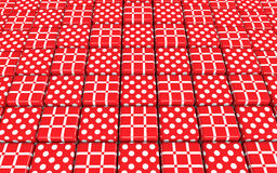 Abstract red cubes background Royalty Free Stock Photo