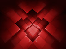 Abstract red cubes background Stock Photos