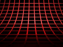 Abstract red cubes background rendered Stock Image