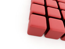 Abstract red cubes background rendered Royalty Free Stock Photos