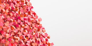 Abstract red cubes three dimensional background Royalty Free Stock Images