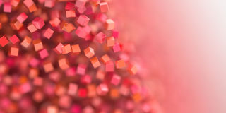 Abstract red cubes three dimensional background Stock Photography