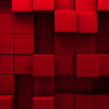Abstract red cubes wall background Royalty Free Stock Photography
