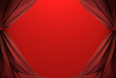 Abstract of red curtains Stock Photography