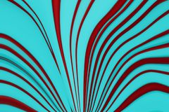 Abstract Red Curved Lines On Blue Background. Abstract distorted red curve lines Stock Illustration