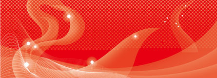 Abstract red curves background Royalty Free Stock Photos