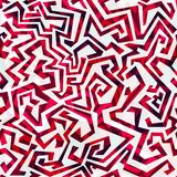 Abstract red curves seamless pattern Stock Photography