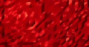 Abstract red 3D geometric pattern. Mosaic metall background for business presentation.