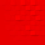 Abstract red 3d geometric pattern vector brick wall texture background. Abstract red 3d geometric background. Red seamless texture with shadow. Simple clean red Stock Photos