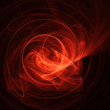 Abstract red design on black. Abstract red light design on a dark or black background Stock Photos