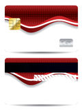 Abstract red design credit card Royalty Free Stock Photo