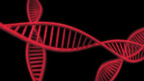 Abstract red DNA background. Technology concept. 3D Rendering Royalty Free Stock Images