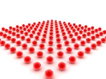 Abstract Red Dot Background. An abstract background collection of shiny red dots Royalty Free Stock Photo