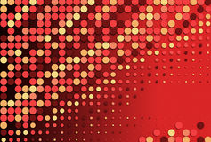Abstract red dotted background Stock Photos