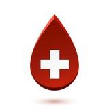 Abstract red drop, medical symbol. Vector illustration stock illustration