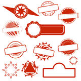 Abstract red empty grunge stamp Royalty Free Stock Photo
