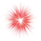 Abstract red explosion, blast background. Vector graphic Stock Images