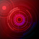 Abstract red eye technology vector illustration Stock Photography