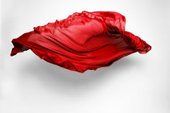Abstract red fabric in motion Stock Photography
