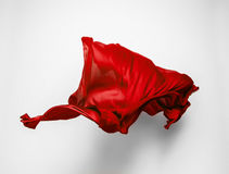 Abstract red fabric in motion Stock Image