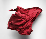 Abstract red fabric in motion Royalty Free Stock Photo