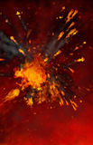 Abstract red fiery background. Abstract background resembling a fiery red explosion stock photos