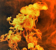 Abstract red flame Stock Photo