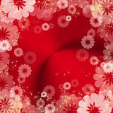 Abstract red floral frame Royalty Free Stock Photo