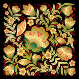 Abstract red floral ornament isolated on black Royalty Free Stock Image