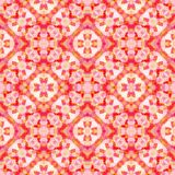 Abstract red floral pattern, Tiled texture background, Seamless illustration. Abstract red floral pattern, Tile texture background, Seamless illustration Stock Photography