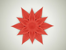 Abstract red flower concept Stock Images