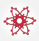 Abstract red flower icon vector illustration