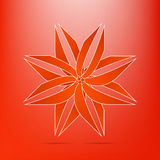 Abstract red flower icon  elegant volume curves strip modern Royalty Free Stock Photography