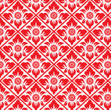 Abstract Red flower in square diamond pattern background Royalty Free Stock Photos