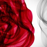Abstract red flower wave background. Abstract red flower wave background, vector stock illustration