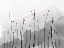 Abstract red flowers Royalty Free Stock Photo