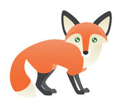 An Abstract Red Fox Standing Royalty Free Stock Photo