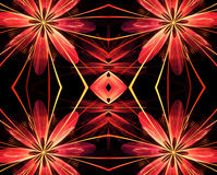 Abstract red fractal background Royalty Free Stock Images