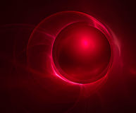 Abstract red fractal background Royalty Free Stock Photography