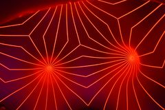 Abstract red fractal lines pattern background. Shot in a illuminarium royalty free illustration