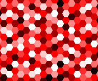 Abstract red geometric hexagonal background Royalty Free Stock Photos