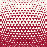 Abstract red geometric hipster fashion design print halftone triangle pattern Stock Photography