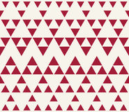 Abstract red geometric hipster fashion design print halftone triangle pattern Royalty Free Stock Image