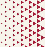 Abstract red geometric hipster fashion design print halftone triangle pattern Stock Images