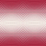 Abstract red geometric hipster fashion design print halftone triangle pattern Stock Photos