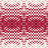 Abstract red geometric hipster fashion design print halftone triangle pattern Royalty Free Stock Photos