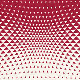 Abstract red geometric hipster fashion design print halftone triangle pattern Royalty Free Stock Photography