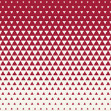 Abstract red geometric hipster fashion design print halftone triangle pattern Stock Photo